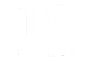 12 Tables White Logo